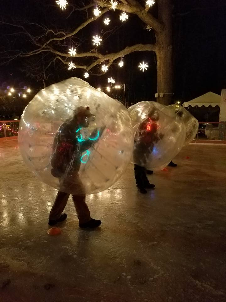 Recess Cleveland hosting Bubble Soccer On Ice at Wade Oval Ice Rink