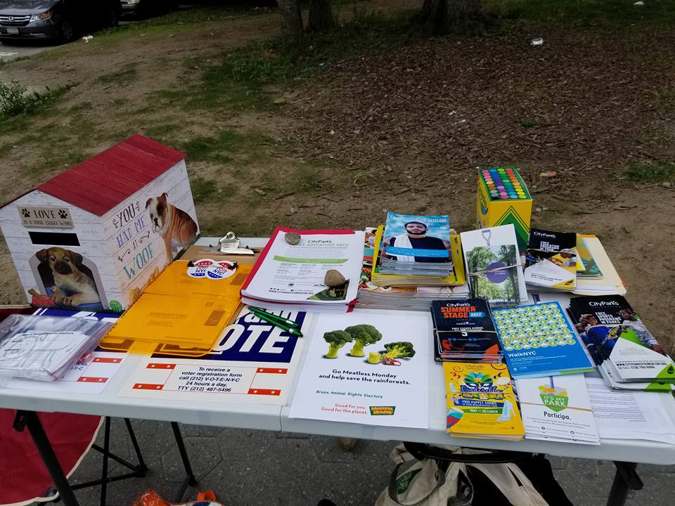Tabling every month during our cleanup