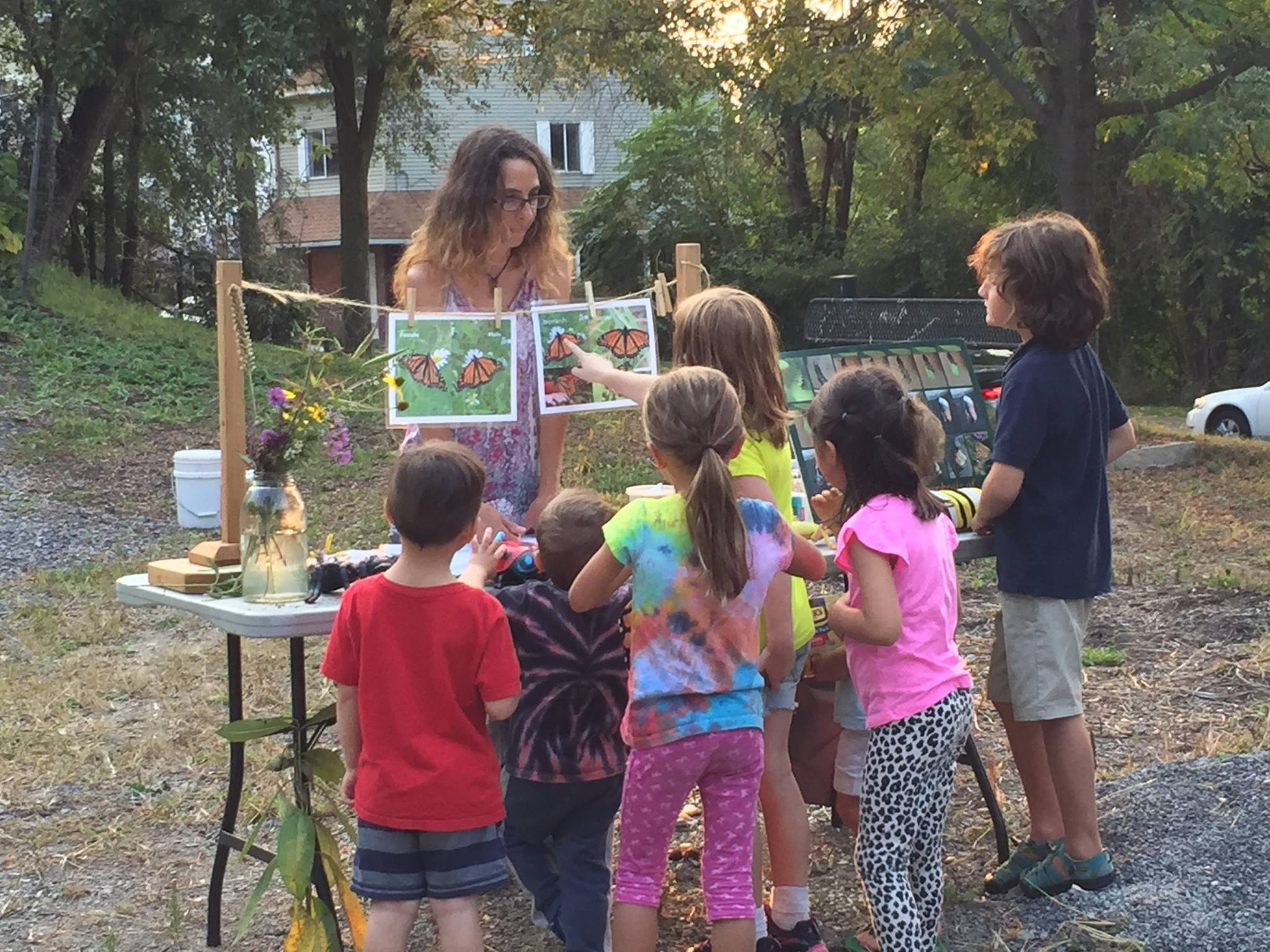 Children learn about pollinators at a Kids Gardening Workshop