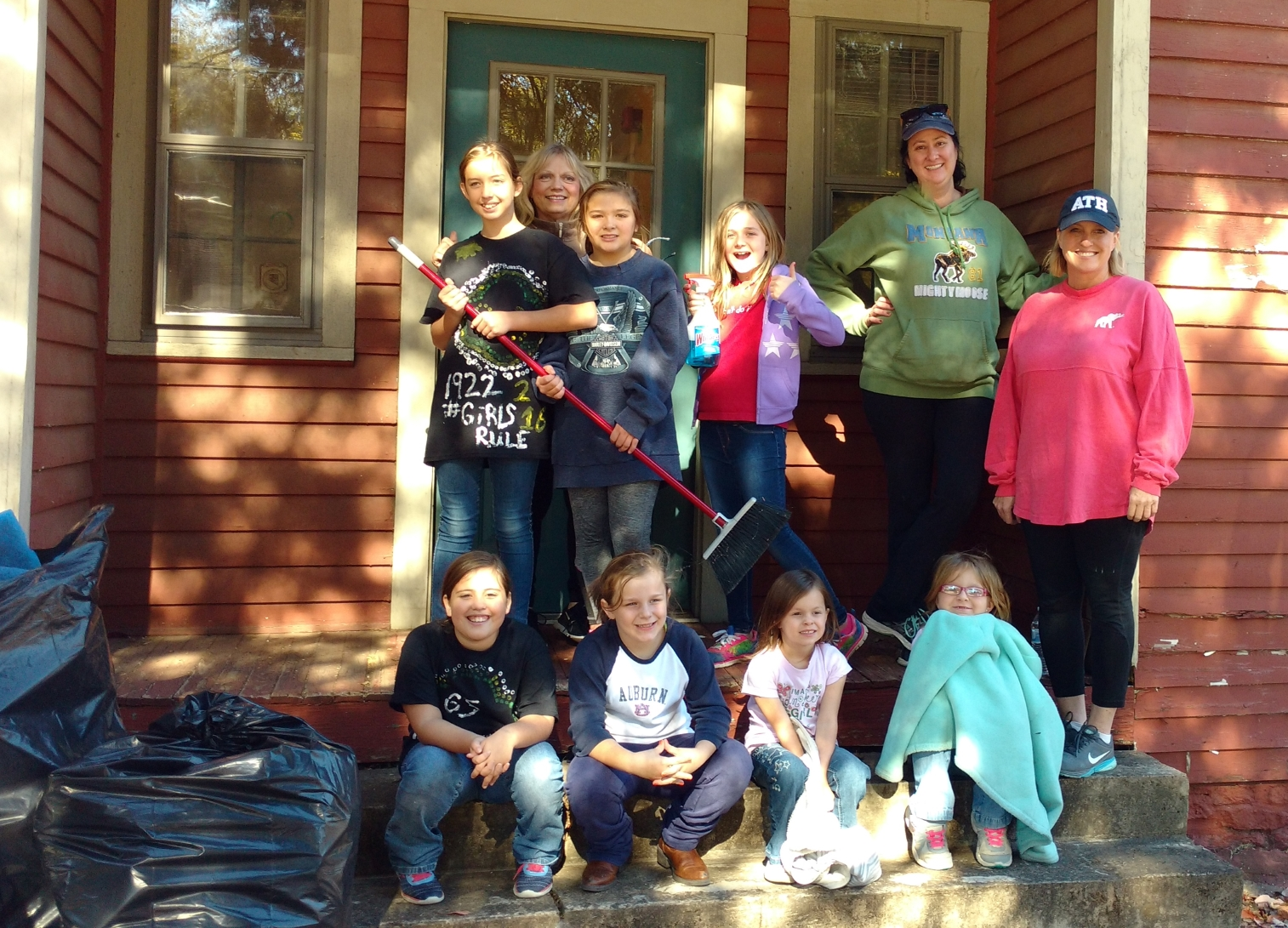 Girl Scouts at Scout House