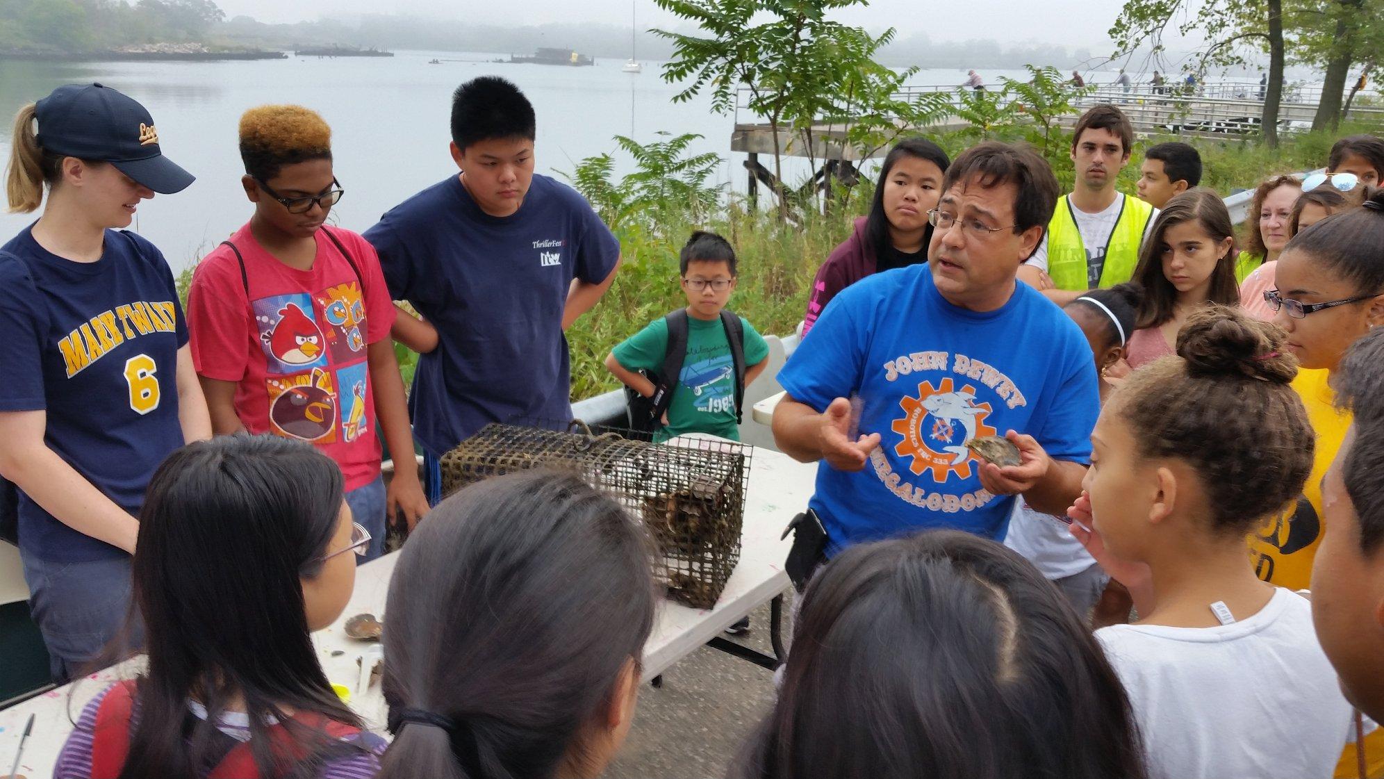 Oyster Monitoring, Coney Island Creek, Lane Rosen, NYSMEA, John Dewey High School, Partnerships for Parks