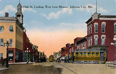 Vintage Jefferson City Postcard with a view of High Street