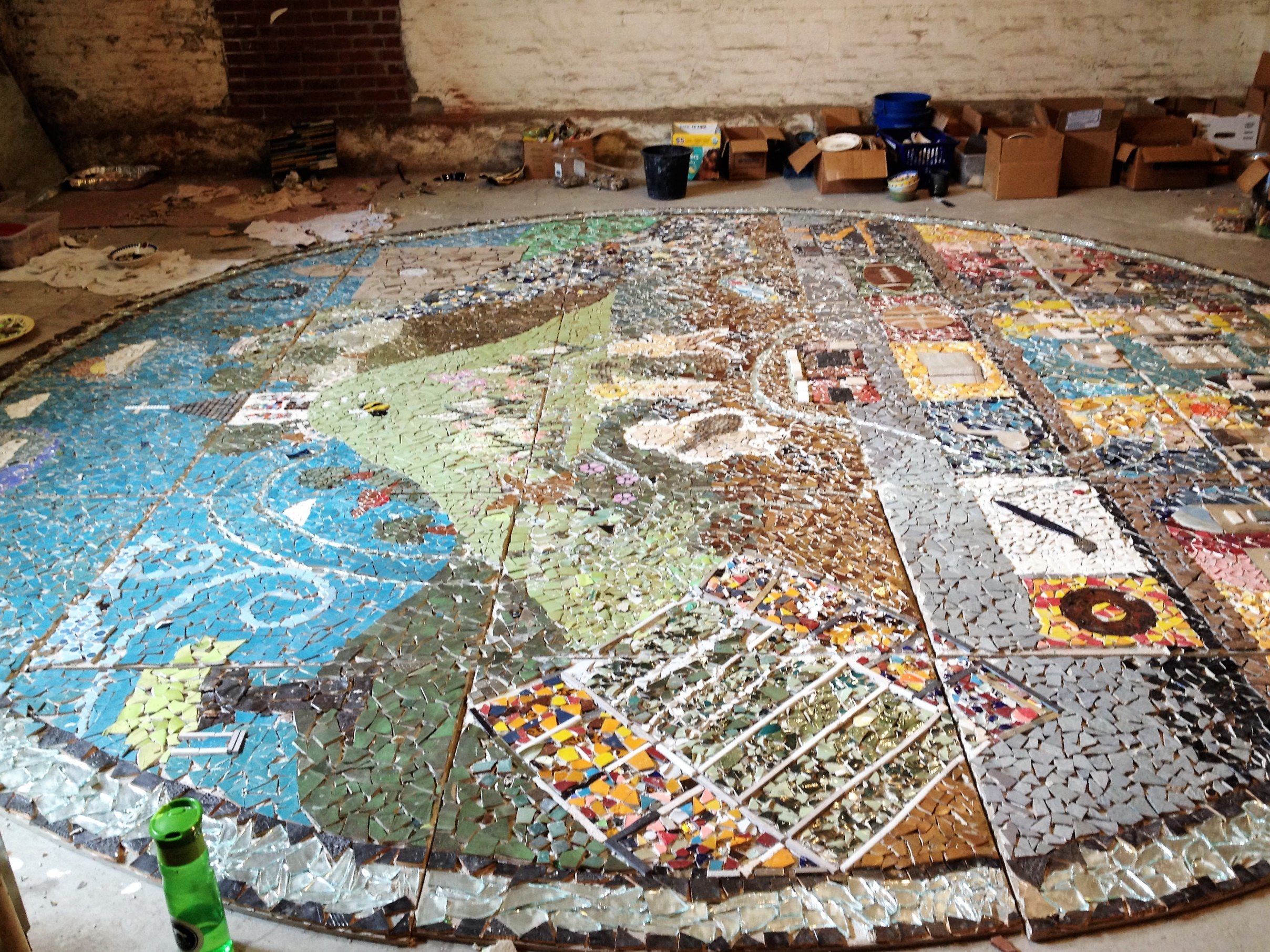 Community Mosaic in process