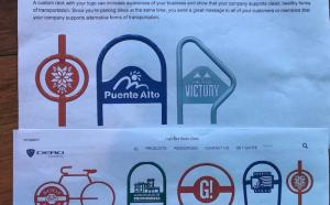 Samples of Branded Bicycle Racks