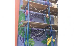 PaintWorks Mural in Progress