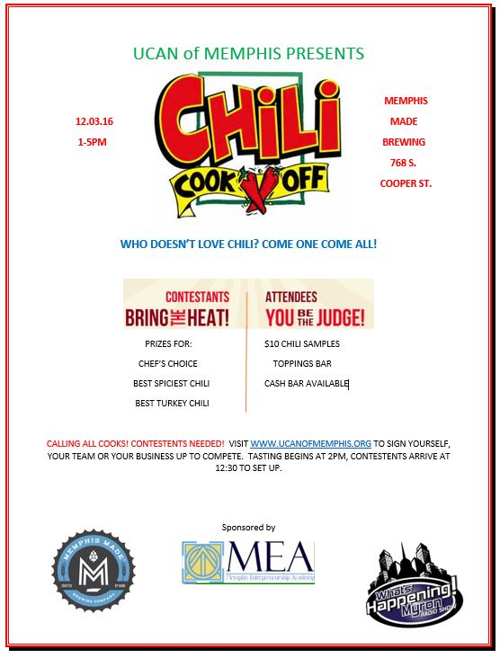 Enter in your best chili for UCAN Chili Cook-Off