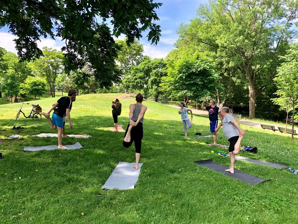 Yoga in Franz Sigel Park, Bronx, NY